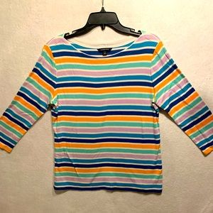 Land's End striped blouse